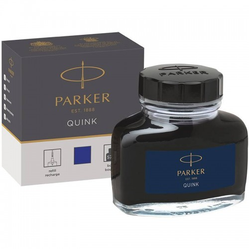 Темно-синие чернила во флаконе Parker (Паркер) Quink Bottle Blue/Black Ink в Екатеринбурге