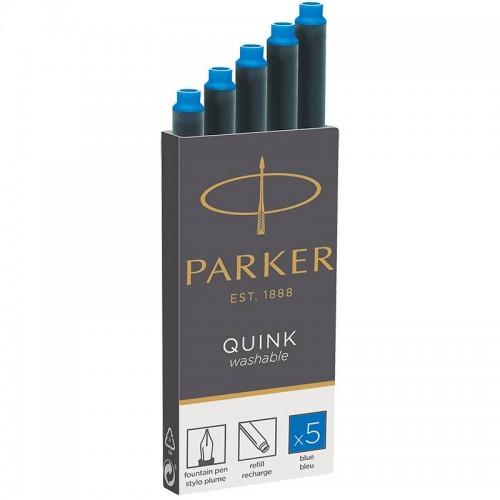 Синие неводостойкие картриджи Parker (Паркер) Quink Cartridges Washable Blue 5 шт в Екатеринбурге