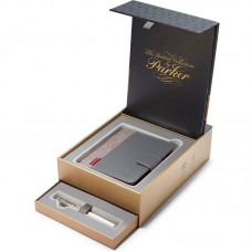 Подарочный набор из перьевой ручки Parker (Паркер) Sonnet Pearl CT M 18К и блокнота