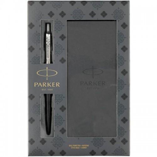 Подарочный набор из шариковой ручки Parker (Паркер) Jotter Core Bond Street Black CT и блокнота в Екатеринбурге