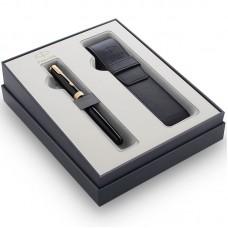Подарочный набор Parker (Паркер) Sonnet Black GT из перьевой ручки и чехла