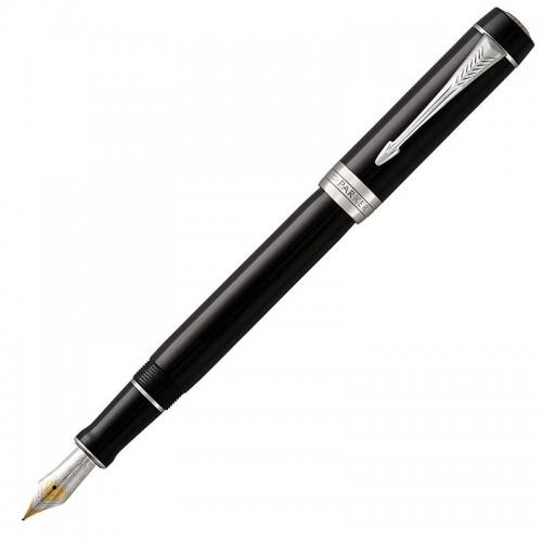 Перьевая ручка Parker (Паркер) Duofold Centennial Classic Black CT F в Екатеринбурге