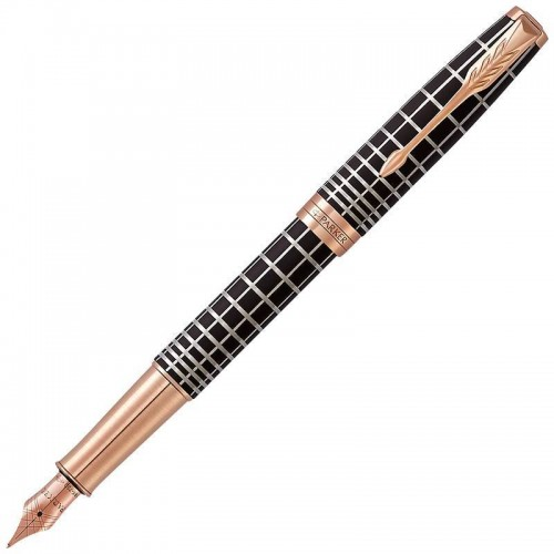 Перьевая ручка Parker (Паркер) Sonnet Premium Brown Rubber PGT F 18k в Екатеринбурге