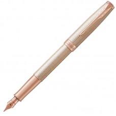 Перьевая ручка Parker (Паркер) Sonnet Luxury Cisele Silver PGT F
