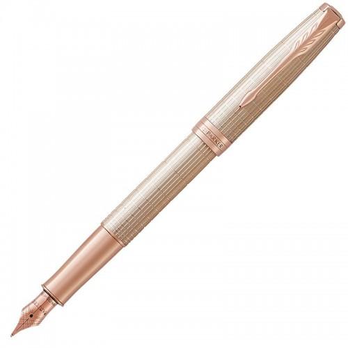 Перьевая ручка Parker (Паркер) Sonnet Luxury Cisele Silver PGT F в Екатеринбурге