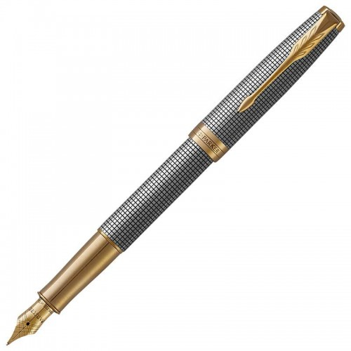 Перьевая ручка Parker (Паркер) Sonnet Luxury Cisele Silver GT F в Екатеринбурге