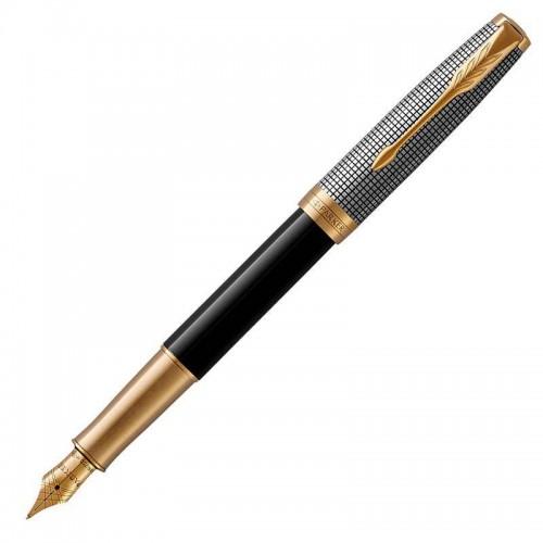 Перьевая ручка Parker (Паркер) Sonnet Premium Black Silver GT F в Екатеринбурге