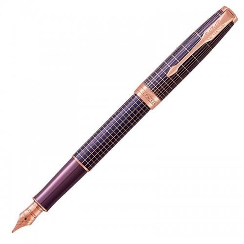Перьевая ручка Parker (Паркер) Sonnet Luxury Purple Matrix PGT F в Екатеринбурге
