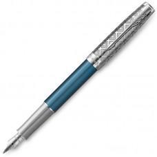 Перьевая ручка Parker (Паркер) Sonnet Premium Metal Blue CT F