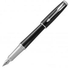 Перьевая ручка Parker (Паркер) Urban Premium Ebony Metal Chiselled CT F