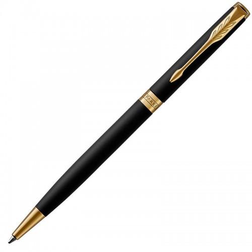 Шариковая ручка Parker (Паркер) Sonnet Core Slim Matte Black Lacquer GT в Екатеринбурге