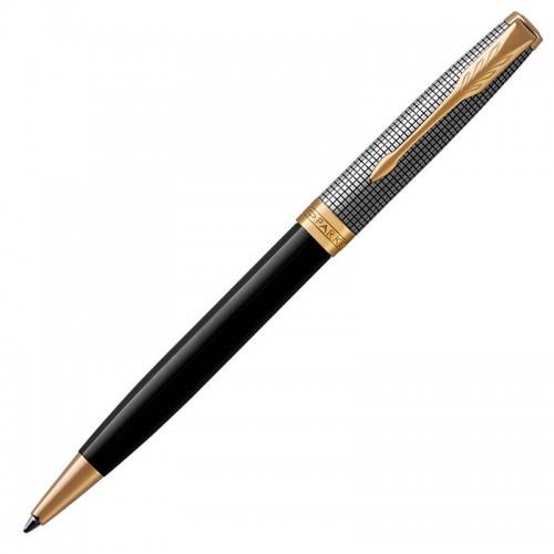 Шариковая ручка Parker (Паркер) Sonnet Premium Black Silver GT в Екатеринбурге